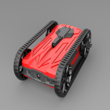 Red AR racing battle tanks