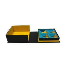 Nueva caja de té de lujo de doble puerta con imán
