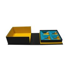 Caixa de chá de luxo nova porta dupla com ímã