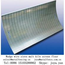 Ventilation wedge wire sieve malt kiln screen floor