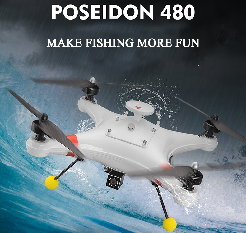 Sea Fishing Drone With Gimbal Camera Bait Dropper