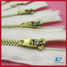 Golden Brass Zipper,c/e, Semi-spring A/l Slider