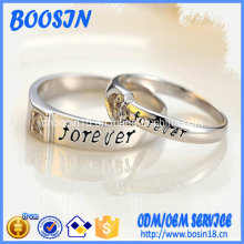 Factory Custom Engraved Sterling Silver Ring for Wedding