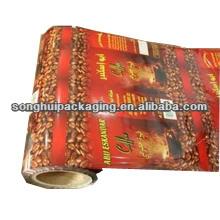Película de empaquetado del café del plástico Cusomized / película laminada del rollo del café