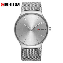 curren ultra mininalist business watch with mesh stainless steel belt