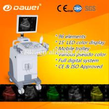 CE & ISO ultrassom de carrinho para Ginecologia / Obstetrícia / Urologia & scanner de ultra-som móvel made in China venda quente