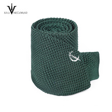 Custom Fashion Plain Color Polyester Knitted Tie for Men