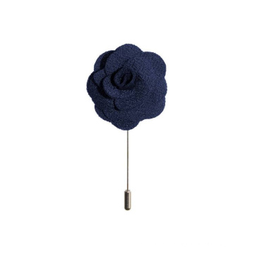 Épinglette faite main de fleur faite main de Rosette en laine faite main