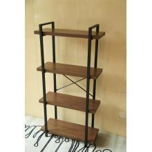 Bücherregal offen breit Holz und Metall