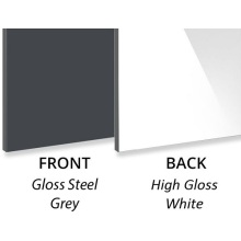 3MM Gloss Steel Grey Decorative Aluminium Composite Panel