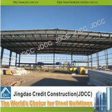 Entrepôt léger de structure encadrée par portail de structure en acier légère