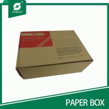 Boîte d'emballage en carton ondulé standard Kraft pour pièces
