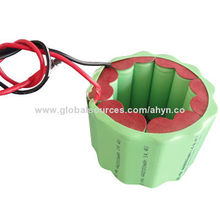 AA 2000mAh 14.4V Rechargeable NiMH Battery Pack, Round Shape, High Capacity