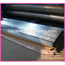 Chapas de acero corrugado de chapa de acero galvanizado por inmersión en caliente de 0,4 mm