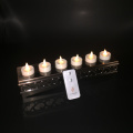 Set of 6 Luminara Rechargeable Flameless Moving Wick Tealight Candle