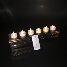 Set of 6 Luminara ricaricabile senza fiamma commovente Wick Tealight Candle