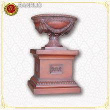 Classic Resin Sculpture, Angel and Flowerpot