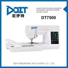 DT 7500 Multi-function domestic computerized embroidery machine prices