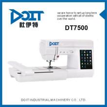 DT 7500 Multi-função domésticos preços de máquinas de bordar computadorizada