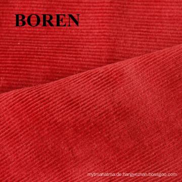 100% Baumwolle 35 Wales Print Velveteen-Like Cord Günstige und komfortabel