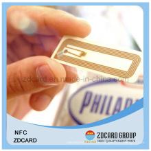 Pet RFID Smart PVC Kontakt / kontaktloser IC Tag mit Chip