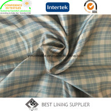 100% Polyester Men′s Jacket Tartan Patterned Liner Lining China Supplier