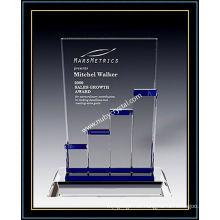 """Placas de premio de cristal / barra de crecimiento estelar 9 """"H (NU-CW716)"""