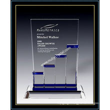"Crystal Award Plaques / Stellar Growth Bar 9"" H (NU-CW716)"