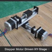 etapa de movimiento xy de 100 a 1000 mm de bajo costo para mover la cámara