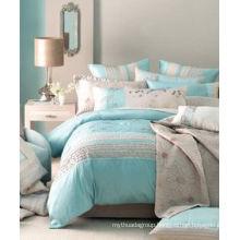 Comforter Duvet Cover Printed Grey Bedding Set for Home