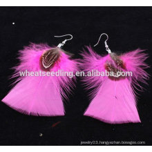 Wholesale Costume Earring Feather Shaped Earrings