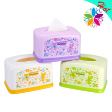 Fashionable Flower Design Rectangle Plastic Tissue Holder (ZJH017)