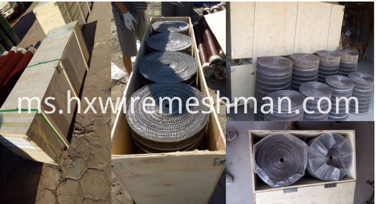 flat flex wire belt packing