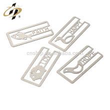 Venta al por mayor barato de encargo de plata regalos de devolución de boda decoración recuerdo sublimación clip de marcador de metal
