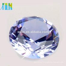 Diamant de cristal de 100mm pour des souvenirs de mariage / cadeau d'anniversaire / centres de table de mariage