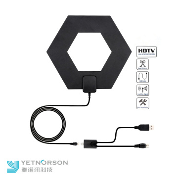 Indoor TV Antenna with Detachable Amplifier Signal Booster