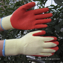 10g Polyester Coated Crinkle Latex Gloves Impact Work Glove