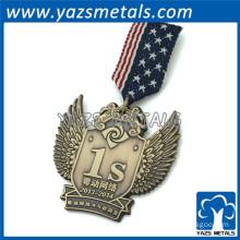 Cheap custom design ribbon pins medal