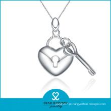 Clássico em forma de coração pingente de jóias de moda em estoque (N-0023)