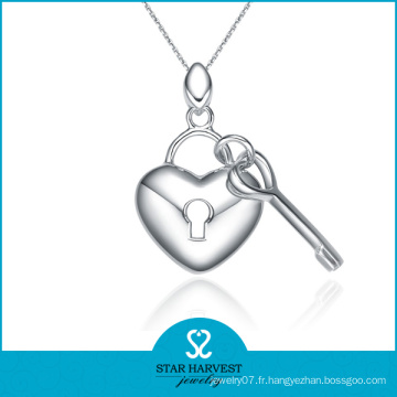 Pendentif en forme de coeur classique en forme de bijoux en stock (N-0023)