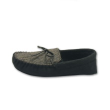 Men moccasin fur lining suede causal slippers