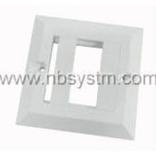 Face Plate 1 port, UK tipo, tamanho: 86x86mm