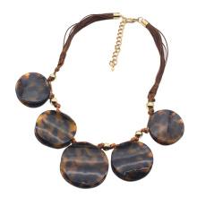 Custom handmade acrylic acetate tortoiseshell jewelry for women popular unique designer necklace