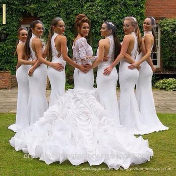Vintage Alibaba Robe de mariée en organza à manches longues et manches longues en marbre 2015 Calès Robes Robes de soirée LW44