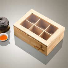 9 Grid Wooden Tea Box