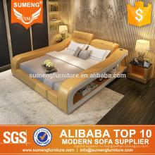 модные итальянские кожаные мебель спальный гарнитур с шкафом