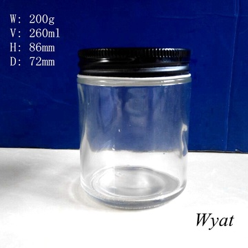 Wholesale 9oz Glass Food Storage Jars Round Glass Jam Jars