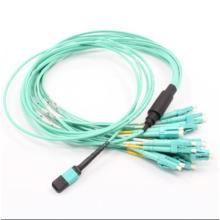 MPO-LC Fanout 12core Mini Round 3.0mm Fiber Optical Patchcord
