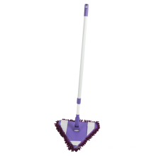 Hot sale triangle Microfibre Fabric Cleaning Floor Flat Mop with aluminum handle