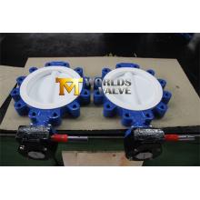 Tipo válvula de talão de Teflon PTFE de borboleta com o Wras do ISO do Ce aprovado